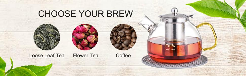 loose leaf tea flower tea coffee