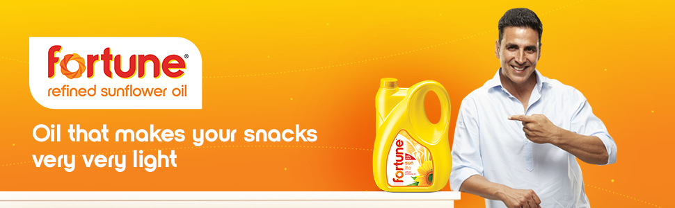 Fortune Refined Sunflower Oil - Oil that makes your snacks very very light