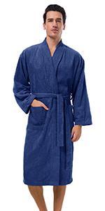 Mens Kimono Terry Cloth Robes