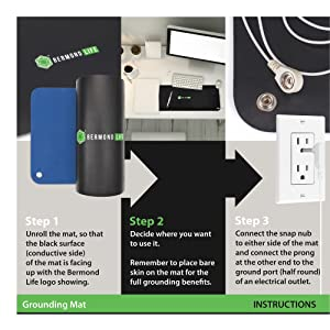 3 Easy steps to use the grounding mat
