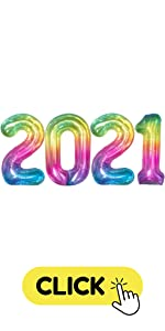 Rainbow Jelly 2021 Number Balloons