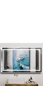 40 x 24 Inch LED Bathroom Mirror