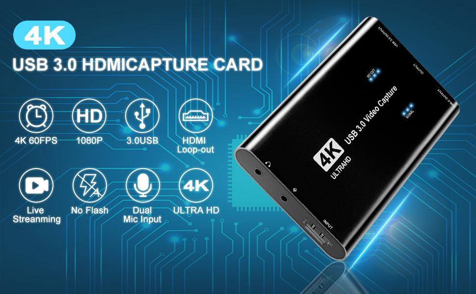Video Capture Card 4K 1080p