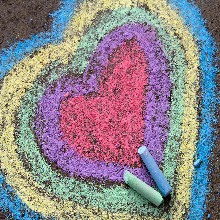 Painting Love heart