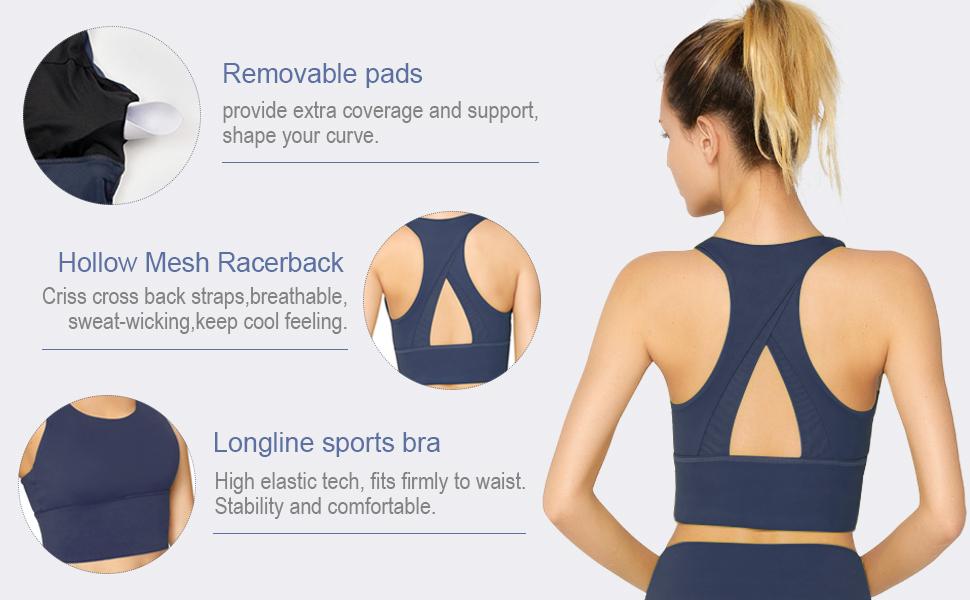 longline sports bra
