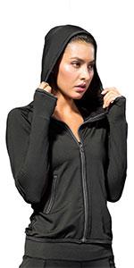 women running jackets hooded