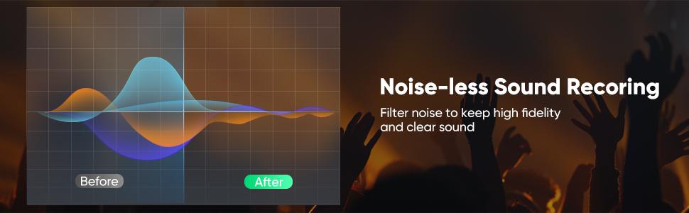 Noise-less Sound Recoring