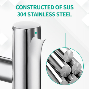 Constructed of SUS 304 stainless steel
