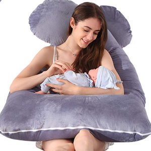 Pregnancy Pillow Cover, U Shaped Replacement Maternity Pillowcase Full Body Pillow Case Cover