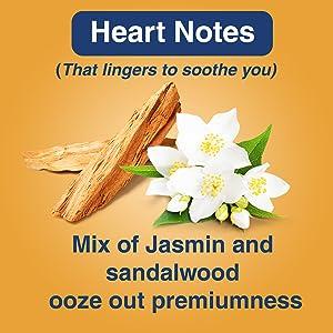 Heart Notes Jasmin and Sandalwood