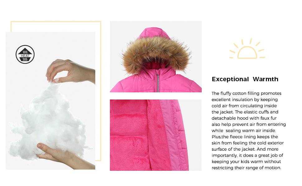 Wantdo Girl's Water Resistant Winter Coat