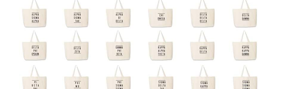 Sorority tote bag design sheet