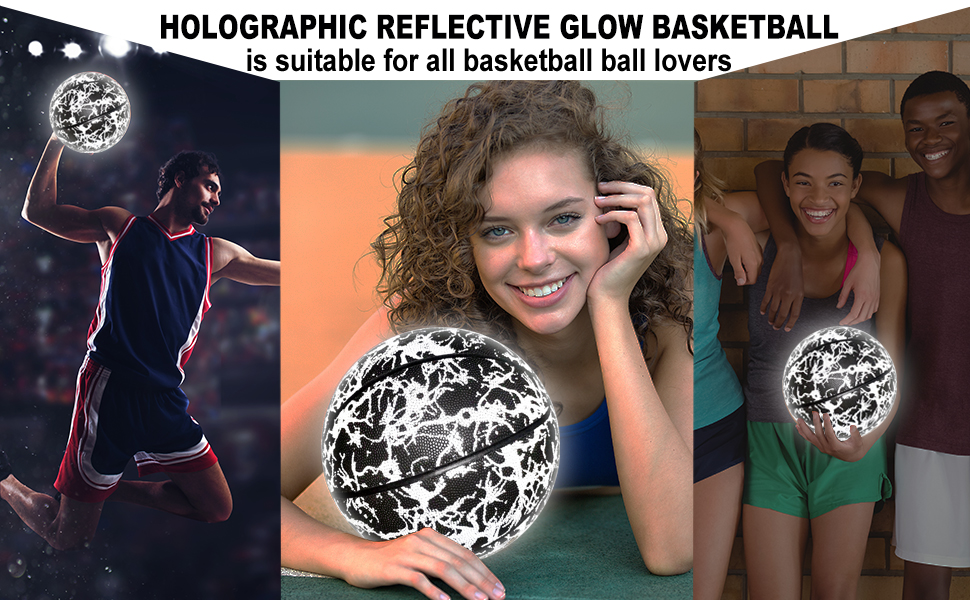 Holographic  reflective basketball