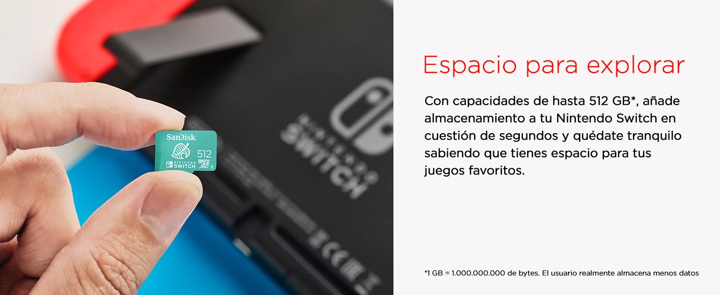 Nintendo Switch storage, mSD, microSD