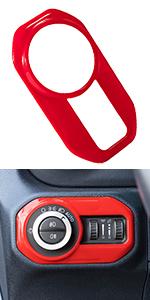 Headlight Lamp Switch Trim Button Cover for Jeep Wrangler JL JLU JT