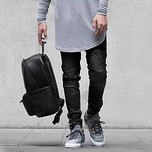 Black Slim Fit Jeans for Men