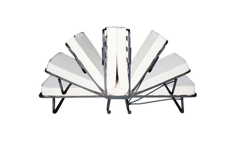 Beautissu Cama Plegable de Invitados Venetia - 80x200 cm - Estable Armadura de Metal - con somier y Funda Protectora