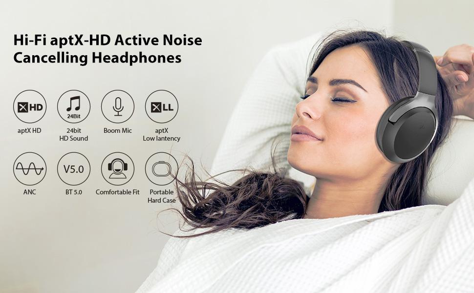 aptx hd bluetooth noise cancelling headphones