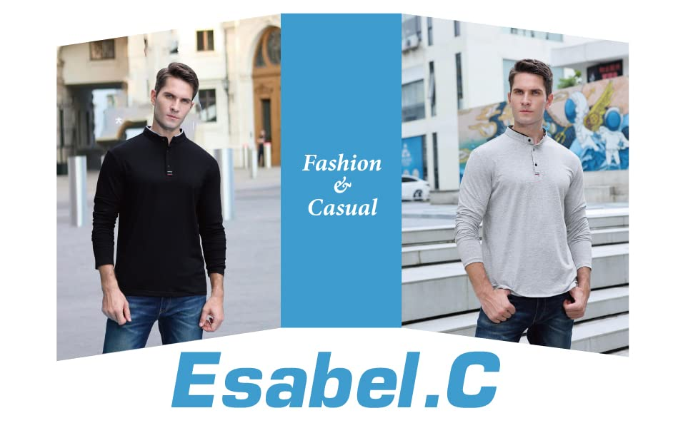 Esabel.C Long Sleeve Polo Shirts For Men