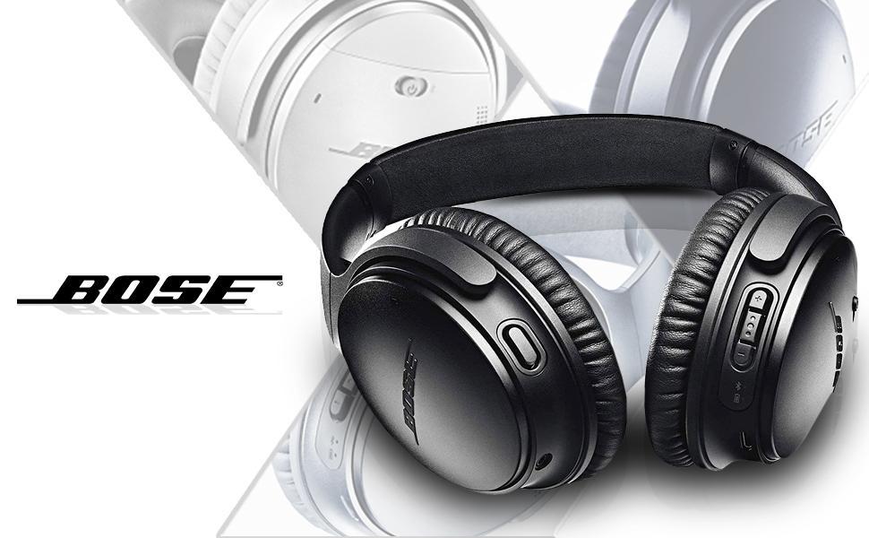Black Bose QC 35 II over ear headphones