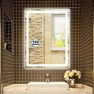 retangle LED lighted bathroom mirror