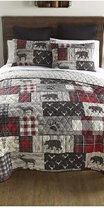 Timber, Donna Sharp, Quilts, Quilt Sets, Lodge, Bear Pattern