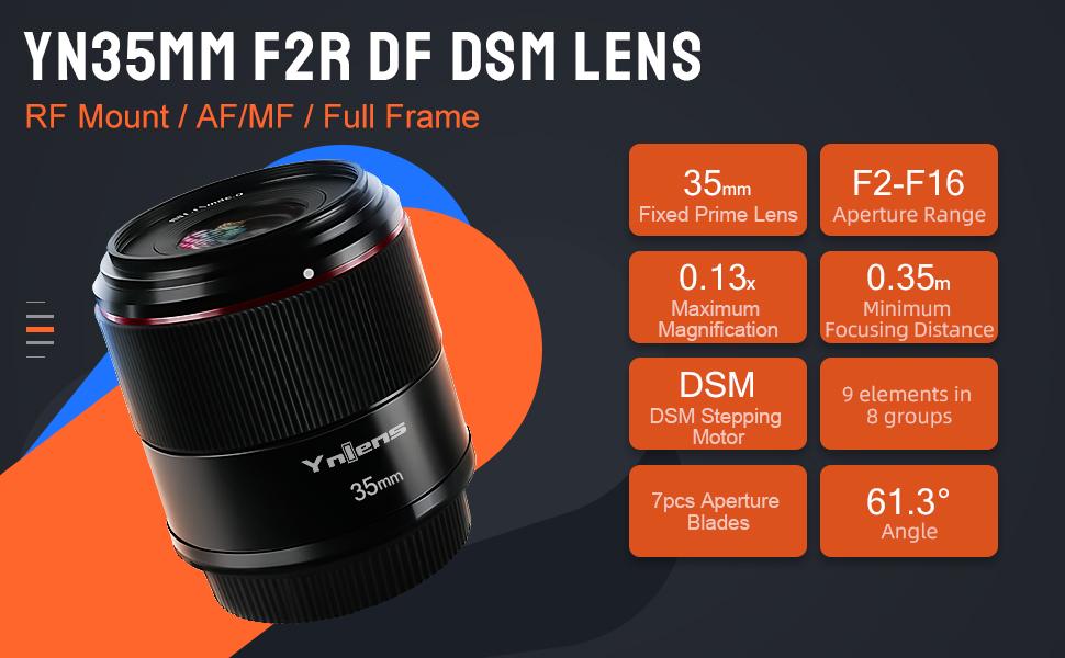 YN35MM F2 RF MOUNT LENS