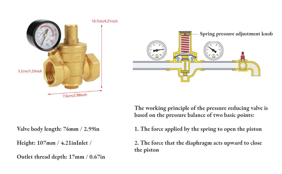 water pressure regulator garden water pressure reducer 32mm water pressure reducer