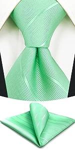Set cravatta turchese a righe tinta unita