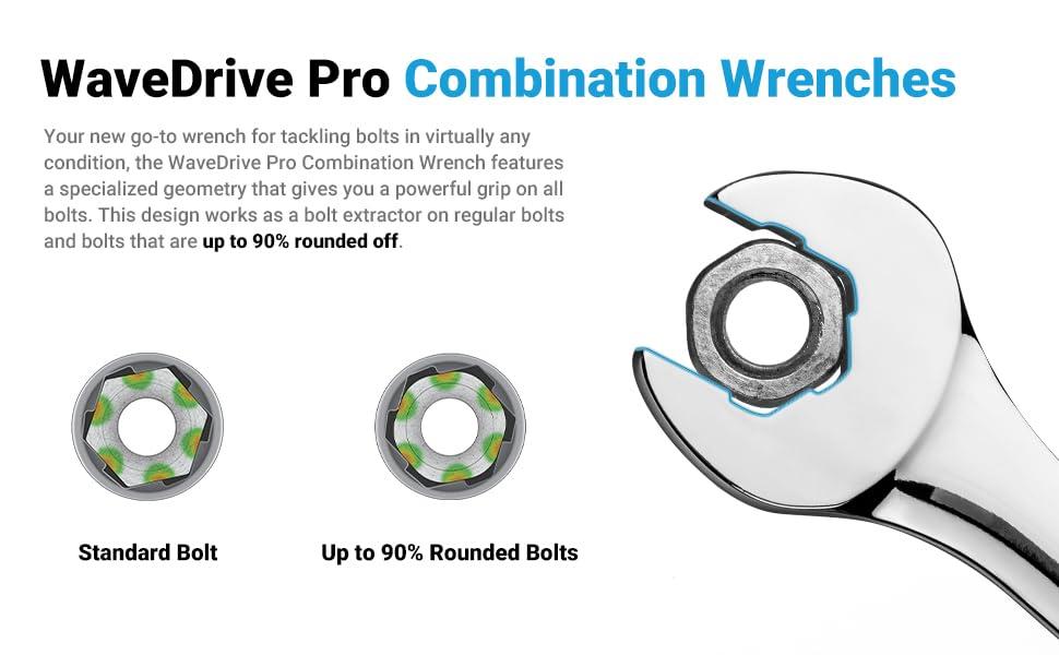 Wavedrive Pro combination wrench