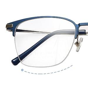 blue light blocking eyeglasses men