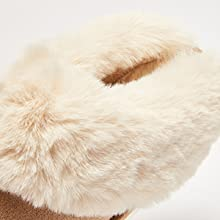 Slip on Fuzzy House Slippers for Women Men with Memory Foam