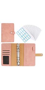 A6 binder pink