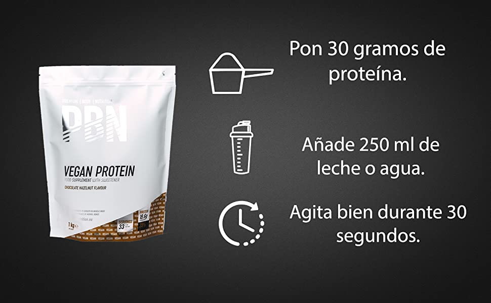PBN Premium Body Nutrition - Bote de proteínas para veganos, 2.27 kg (Paquete de 1), sabor Chocolate
