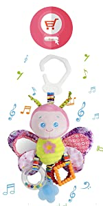 Baby Toys for Girls and Boys Clip on Car Seat Toy Stroller Toy