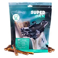 6-inch Junior Bully Sticks for dogs SuperCan made odor free small dogs treats chews natural dental