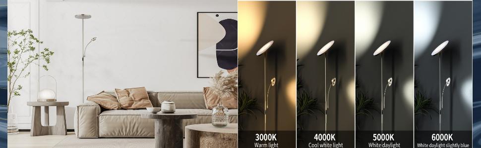 Lampe LED à intensité variable.