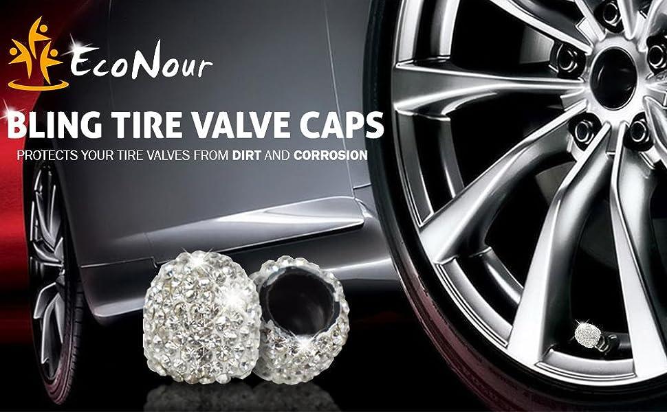 EcoNour Bling Tire Valve Caps