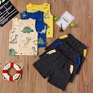 toddler baby boy summer sleeveless clothes