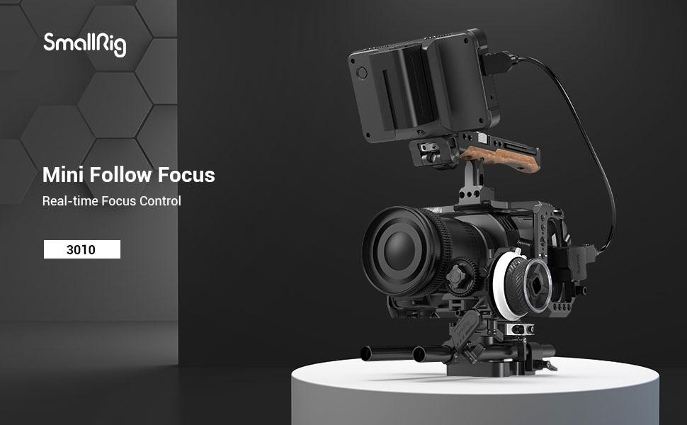 SMALLRIG Mini Follow Focus Controllo Dello Zoom per Fotocamere DSLR/Mirrorless - 3010