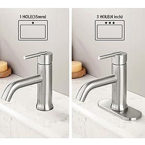 bathroom faucet single hole