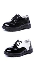 Toddlers Ring Bearer Boys Wedding School Uniform Dress Oxfords Flats Brogues Shoes