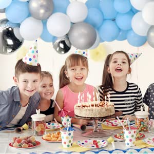 blue balloon garland kit for birthday parties decorations supplies