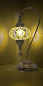 yellow mosaic lamp