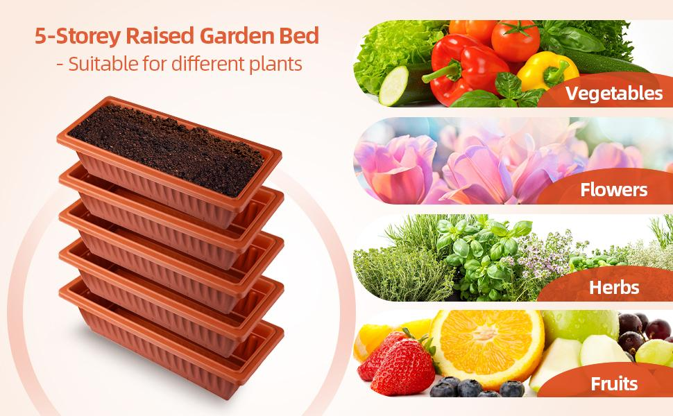 5 stories vertical raised garden bed