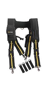 work tool belt suspenders