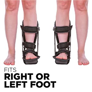 our plantar fasciitis brace can be worn on your right or left foot =