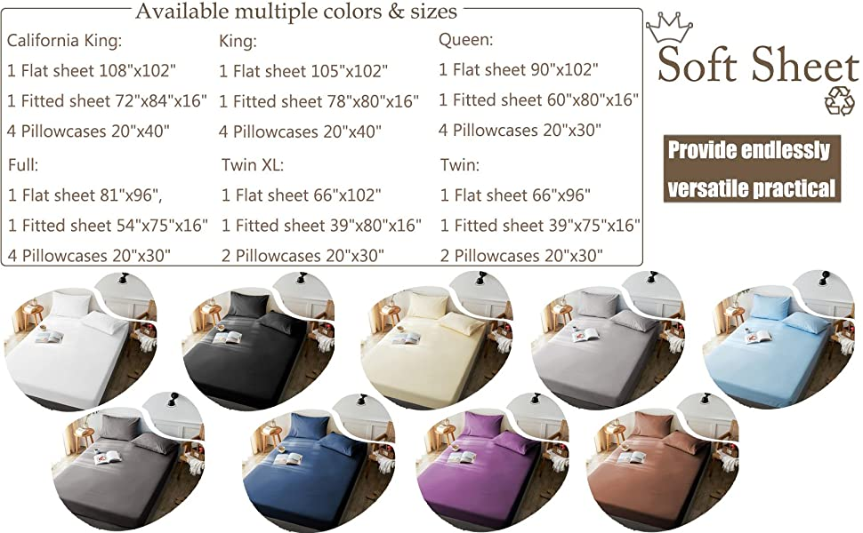 LBRO2M Bed Sheets is available multiple colors
