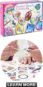 Pendant Jewelry Crafting Kit - Girls gift necklace making set art and craft