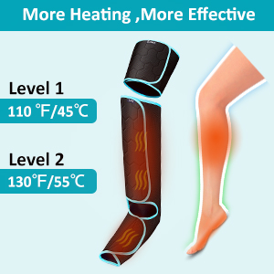 leg massager with heat and compression